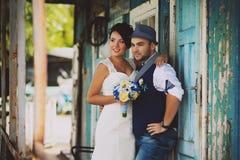 新郎,婚礼,帽子 免版税库存照片