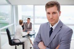 新销售经理身分 图库摄影