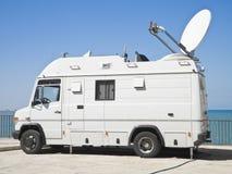 新闻卡车电视 免版税库存图片