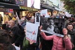 新闻工作者抗议 库存图片