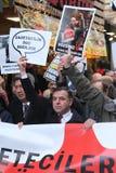 新闻工作者抗议 免版税库存照片