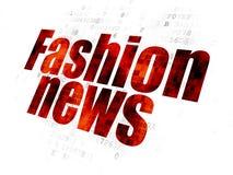 新闻概念:在数字式背景的时尚新闻 库存照片