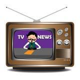 新闻电视 免版税库存照片