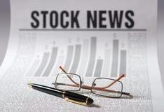 新闻股票 库存照片