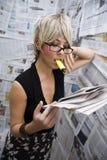 新闻记者 免版税图库摄影
