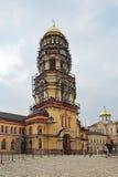 新阿丰修道院,钟楼的恢复 库存图片
