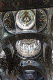 新阿丰的寺庙的内部 库存照片
