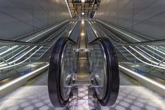 新阿母斯特丹地铁电梯 库存图片