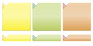 新颜色模板 免版税库存图片