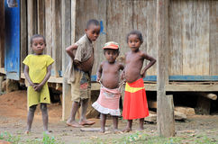 新马达加斯加人的女孩 库存图片
