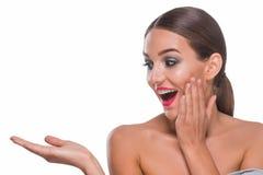 新高兴的妇女 免版税库存图片