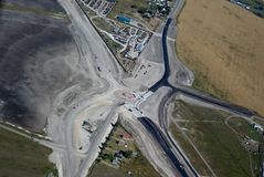 新高速公路的交叉点 免版税图库摄影