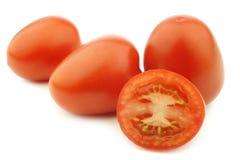新鲜和五颜六色的意大利人罗马蕃茄 库存图片