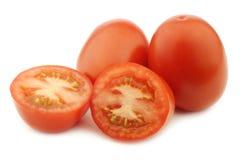 新鲜和五颜六色的意大利人罗马蕃茄 免版税库存照片