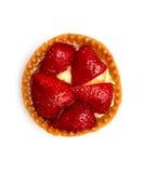 新鲜和鲜美草莓蛋糕 免版税库存图片