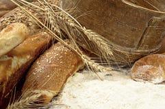 新鲜和鲜美面包 库存照片