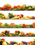 新鲜和鲜美水果和蔬菜拼贴画  免版税图库摄影