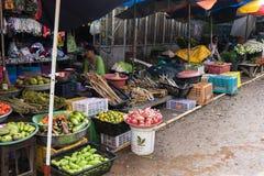 新鲜市场在Phayathonzu 免版税库存照片