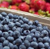 新鲜市场莓果 免版税图库摄影