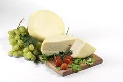 新鲜干酪的干酪 库存照片