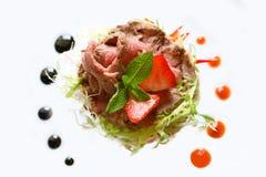 新鲜开胃菜的牛肉 库存图片