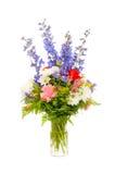 新鲜排列焦点五颜六色的花 免版税图库摄影