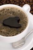新鲜无奶咖啡的杯子 库存照片