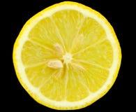 新鲜柠檬黄色 免版税库存照片