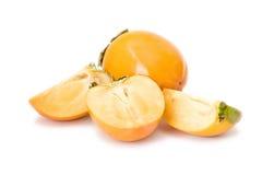 新鲜水果亚洲柿树 免版税图库摄影