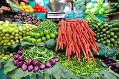 新鲜水果和veg显示  免版税图库摄影