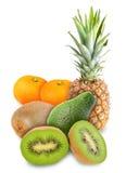 新鲜水果堆积热带 免版税库存图片