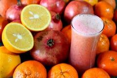 新鲜水果汁混合 图库摄影