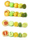 新鲜水果登记 免版税库存照片