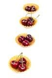 新鲜的一个甜樱桃果子 免版税库存图片