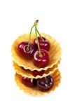 新鲜的一个甜樱桃果子 免版税图库摄影