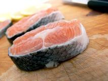 新鲜的三文鱼利益 库存图片