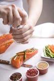 新鲜的三文鱼 免版税图库摄影