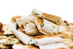 新鲜的三明治开胃菜特写镜头 小lavash 库存照片