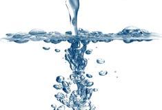 新鲜的倾吐的水 免版税库存照片
