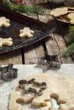 新鲜的做的圣诞节曲奇饼 免版税库存照片