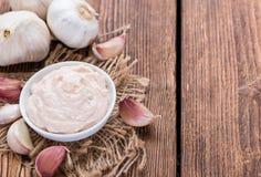新鲜的做的蒜泥蛋黄酱 免版税库存图片