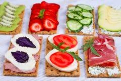 新鲜的健康开胃菜快餐 库存图片