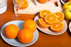 新鲜的健康桔子 图库摄影