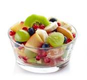 新鲜的健康水果沙拉 免版税库存图片