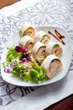 新鲜的健康素食玉米粉薄烙饼 免版税库存图片