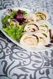 新鲜的健康素食玉米粉薄烙饼 库存图片