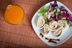 新鲜的健康素食玉米粉薄烙饼 免版税库存照片