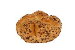 新鲜的全麦的卷面包 库存照片