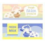新鲜的农产品 母牛愉快的草甸 编辑可能 免版税库存图片