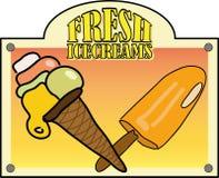 新鲜的冰淇凌 免版税库存照片